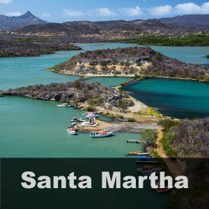 Santa Martha met een prachtig uitzicht